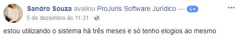 Depoimento Sandro Souza: estou utilizando o sistema há três meses e só tenho elogios ao mesmo