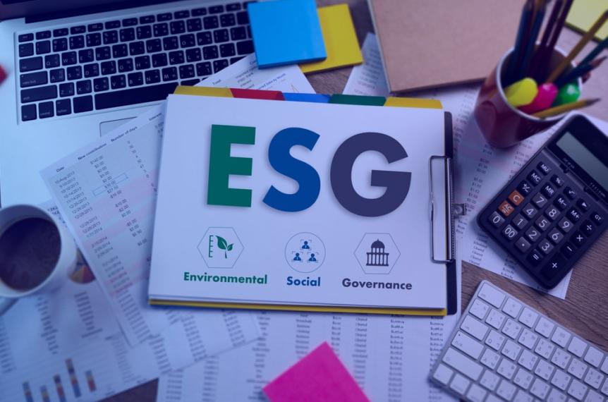 Imagem com a sigla ESG