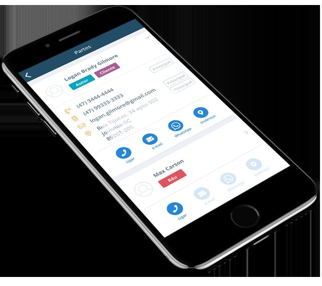 ProJuris Software Jurídico para Escritórios de Advocacia - visualização em celulares