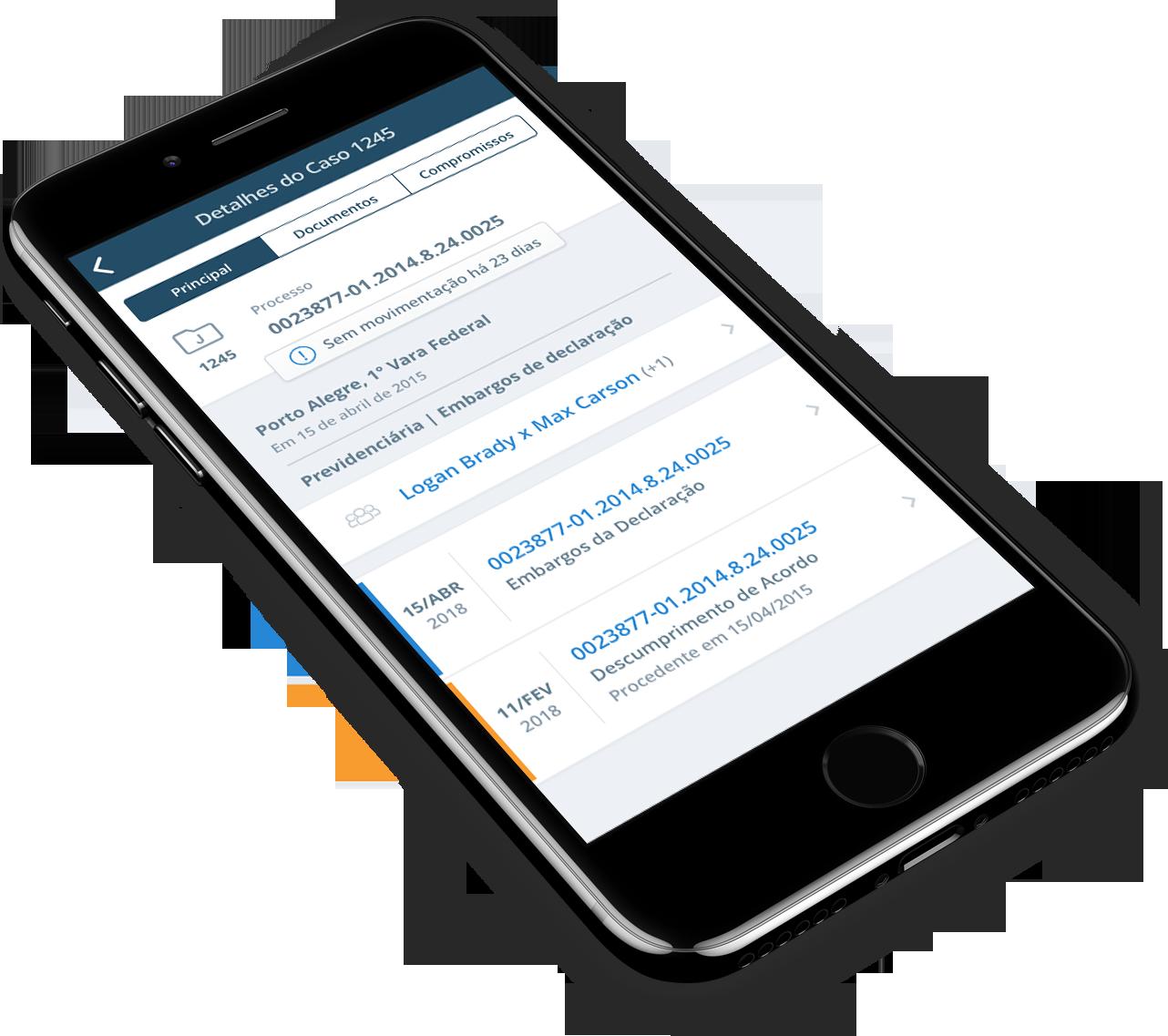 Aplicativo ProJuris no celular